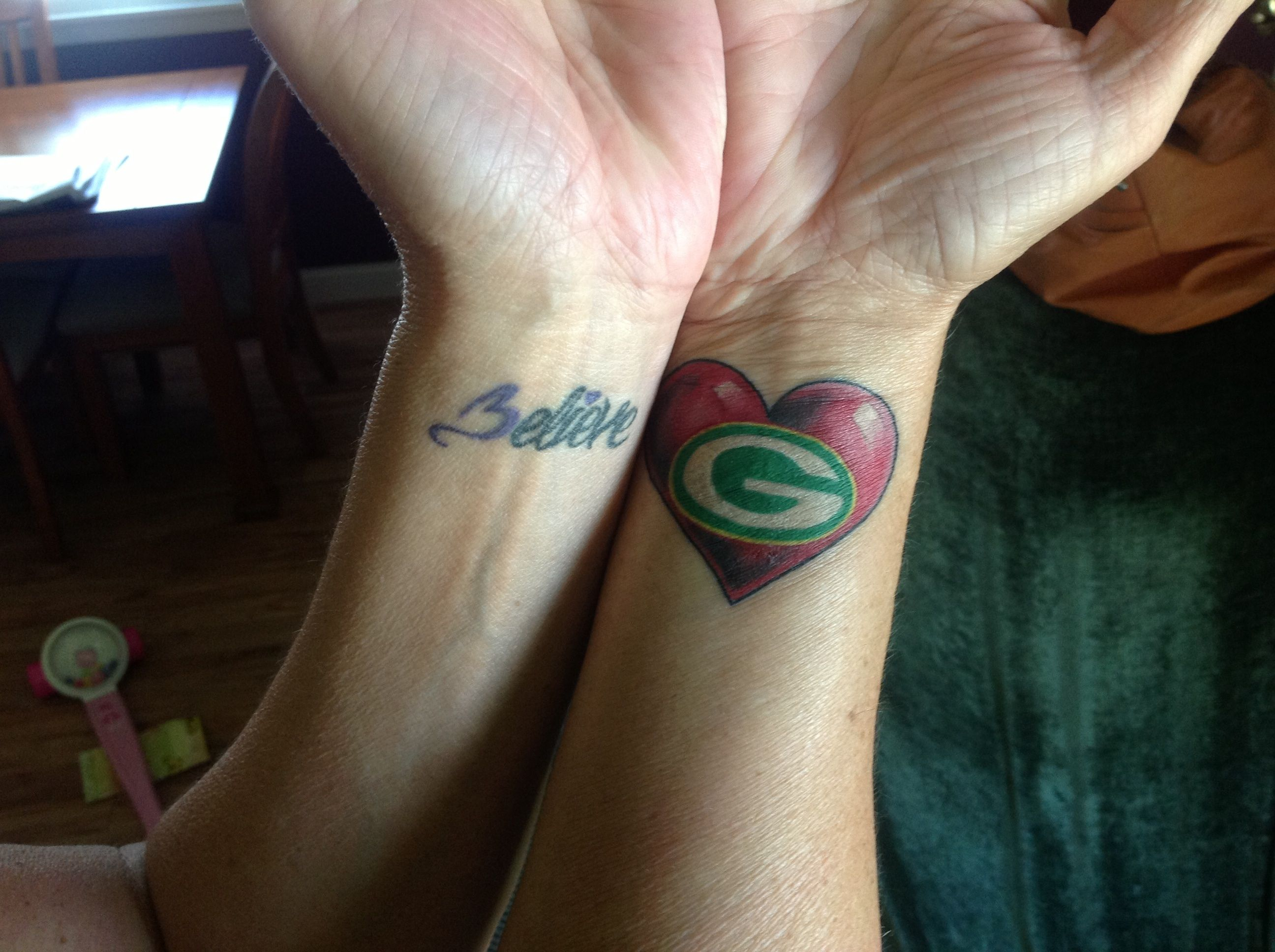 56 Year Old Grammajoan Finally Got Her A Packers Tattoo Love My Packers Tattoos Body Art Tattoos Tattoo You