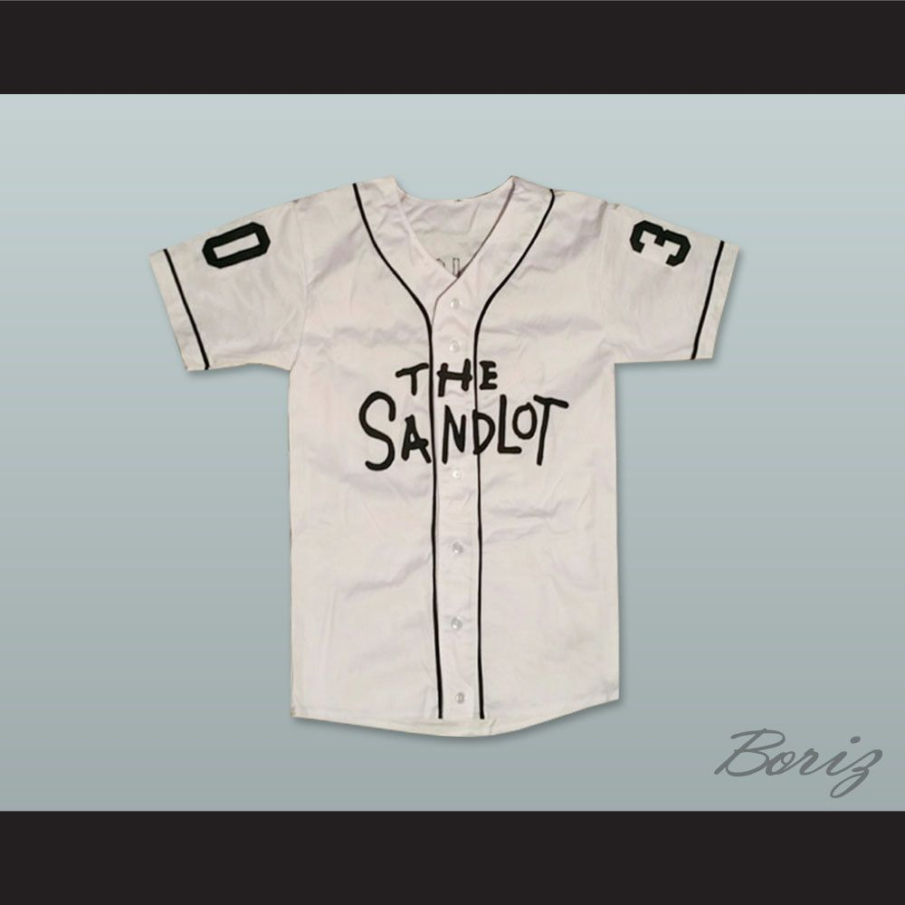 Mike Vitar Benny The Jet Rodriguez 30 White Baseball Jersey The Sandlot