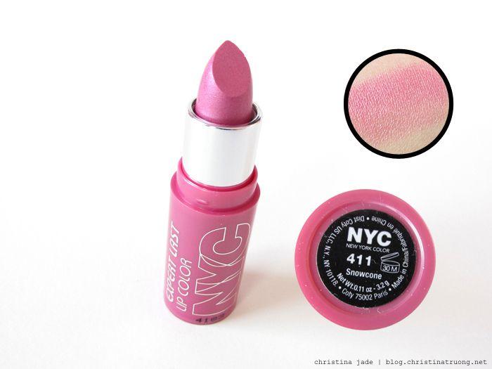 c81f0343dd NYC New York Color Expert Last Lip Color 411 Snowcone