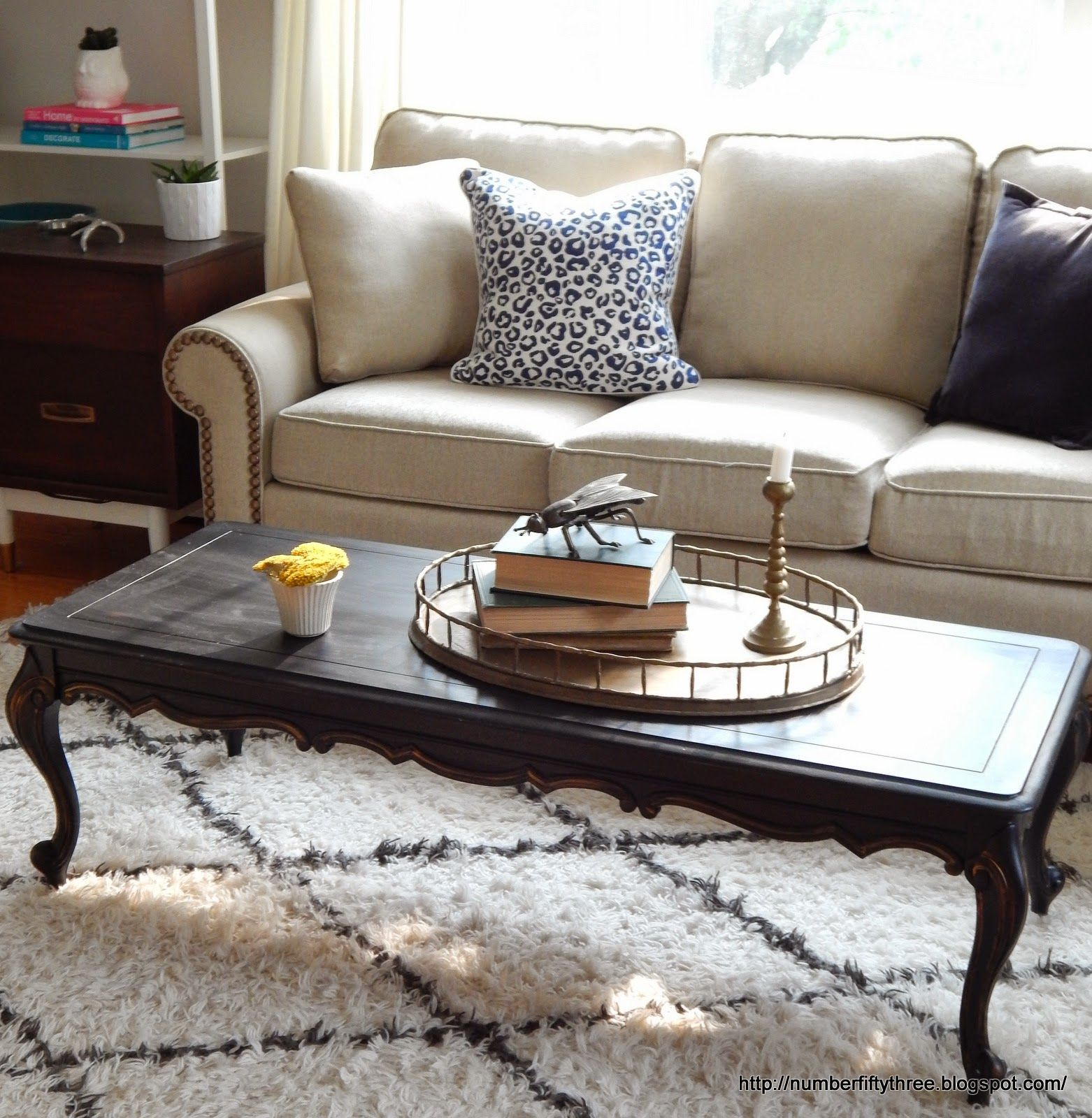 Classic Black Gold Coffee Table Furniture Table Classic