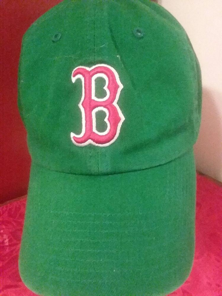 c1791361047ab Ball Cap Hat Boston Red Sox OSFA Green 47 Brand Genuine Merchandise Buckle   47  BostonRedSox