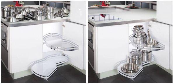 meuble d'angle de cuisine - ferrure le mans kessebohmer | cuisine ... - Meuble Bas D Angle Cuisine