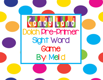 This game includes Dolch pre-primer sight words on look-alike Candy Land cards. You just need a game board & game pieces. Print out cards on card stock, laminate, cut & use for years to come! My kids LOVE this game! This can be used in a Work Work station in Daily 5 or as a literacy station.