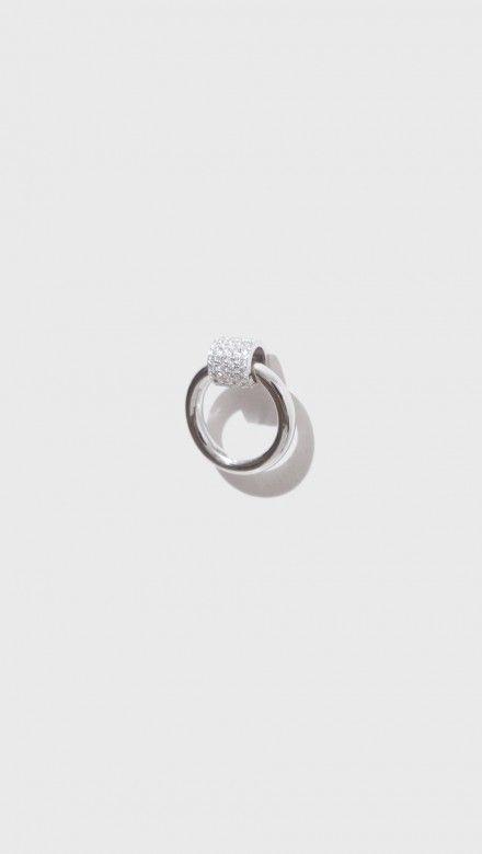 Venn Single Earring W/ Pave by J. Hannah
