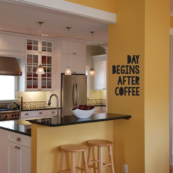 Day Begins After Coffee Removable Wall Vinyl by StreamlineDesign, $16.95