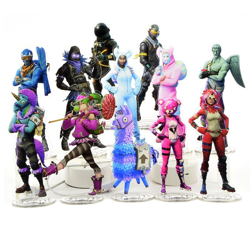 Fortnite Battle Royale Figure Acrylic Stand Toy Figure Llama Skin Skull Trooper Easter Bunny Plush Easter Bunny Eggs Easter Plush