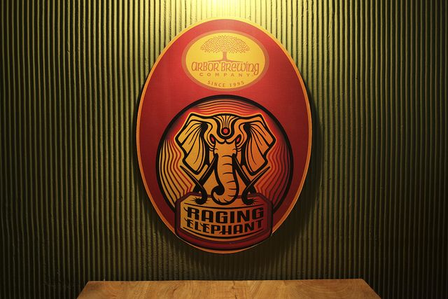 RAGING ELEPHANT IPA: India is not only about spicy food and dull Kingfisher beer, the micro-brewery scene is developing too, specially in Bangalore. This one is from one of the latest brewpub, ABC.