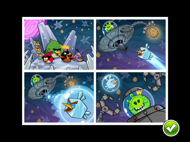 full review of Angry Birds Space -What do you do when you're under pressure to create an actual sequel to one of the most successful games of all time? Well, if you're Rovio, you put it off until the original games hit 700 million downloads.