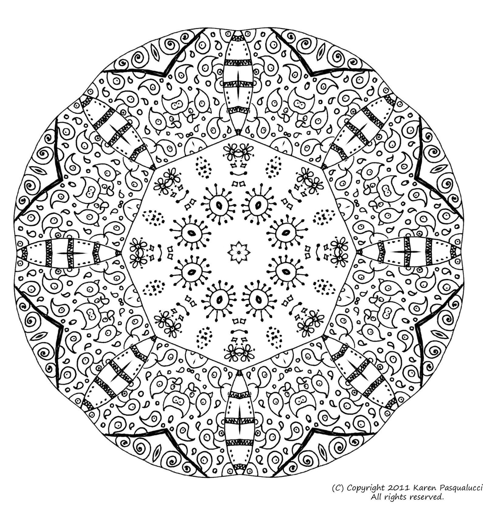 Coloriage Magique Mandala