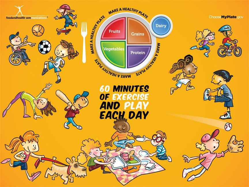 My Plate Kids Activity Banner Health Fair Banner