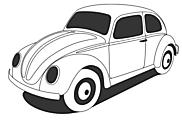 Ausmalbild/Malvorlage Auto Käfer (Klicken für Großansicht + PDF)