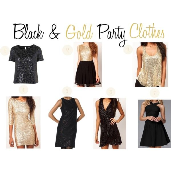 Black And Gold Party Clothes By Thepinkandgreenprep On Polyvore