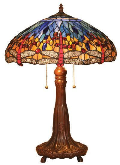 Dragonfly Design Tiffany Styled Table Lamp