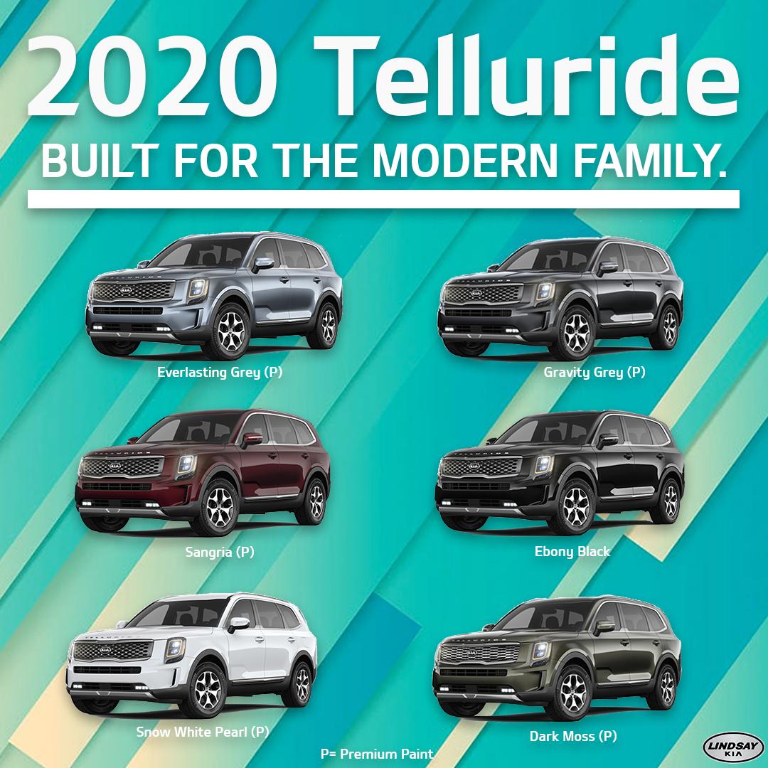 2020 Telluride Colours Kia Hyundai Cars New Suv