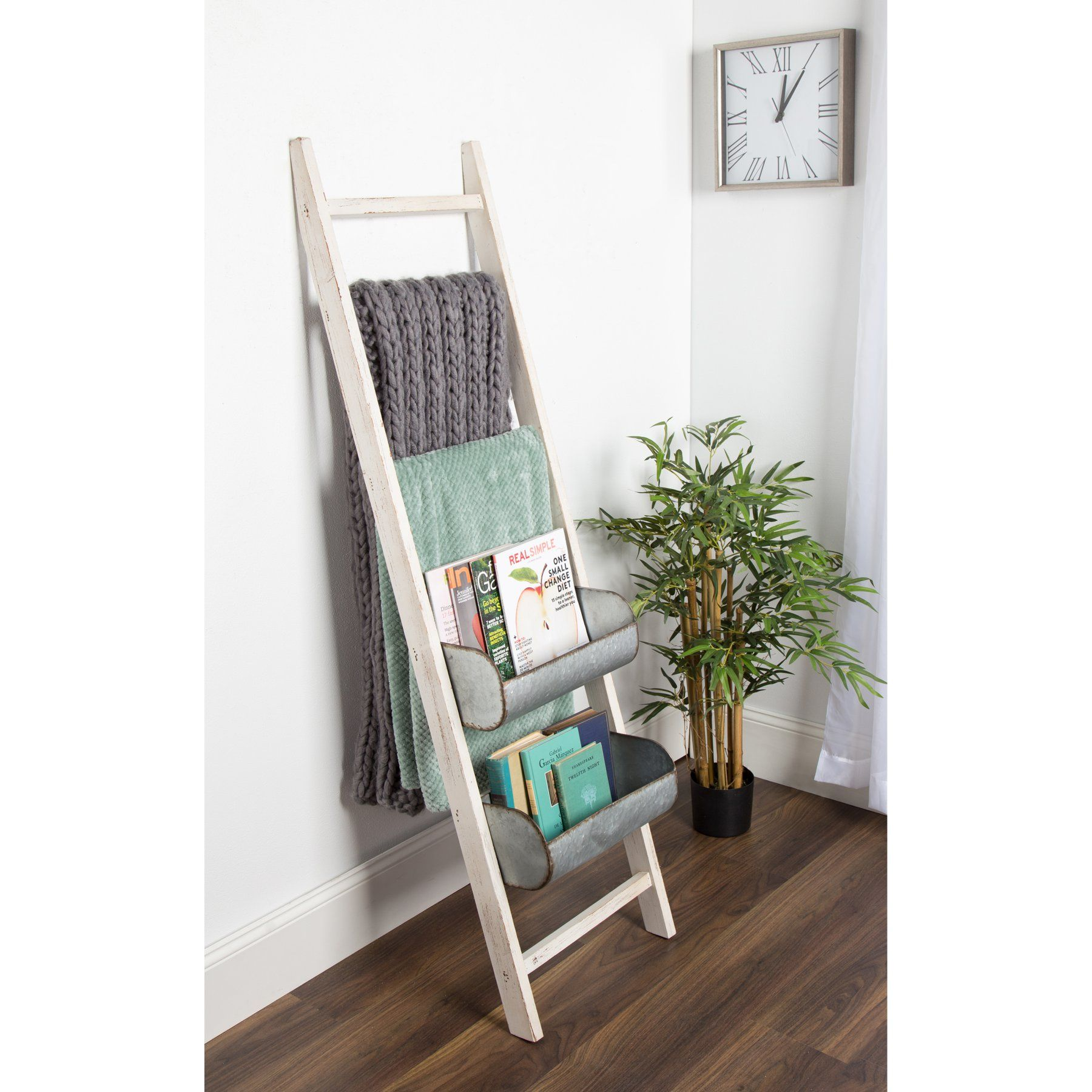 Kate And Laurel Pothos Ladder Magazine Rack  212028