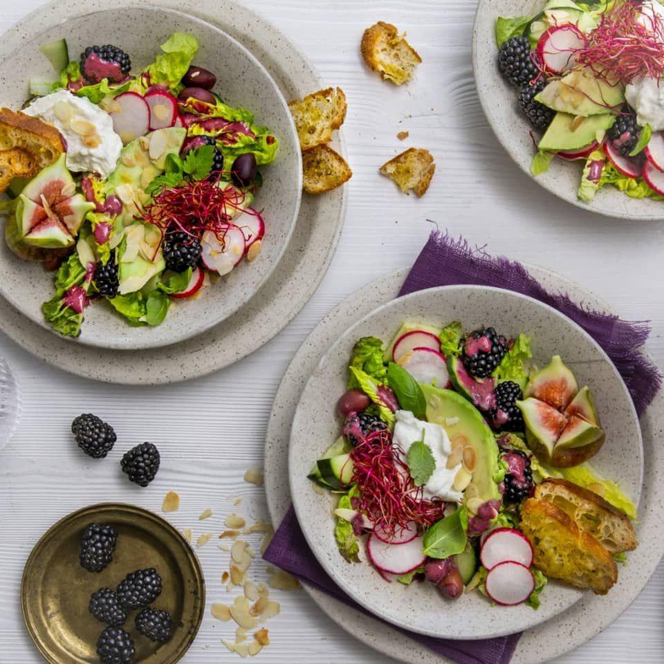 Sommersalat mit Brombeeren #brombeerenrezepte