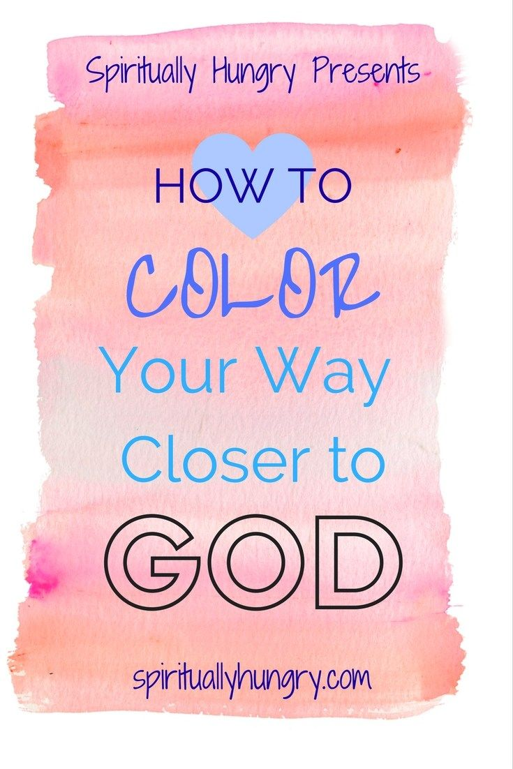Color Your Way Closer to God Series | FUMC Youth | Pinterest