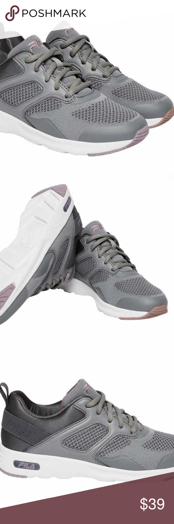 Purple Tennis Training Shoe Pick Size NEW Women/'s Fila Memory Frame V6 Grey