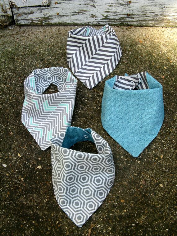 Hey, I found this really awesome Etsy listing at https://www.etsy.com/listing/249820247/set-of-4-modern-bandana-bibs