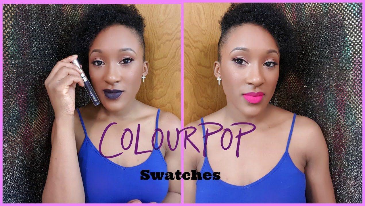 ColourPop UltraMatte and Lippie Stix Lip Swatches::Brown Skin