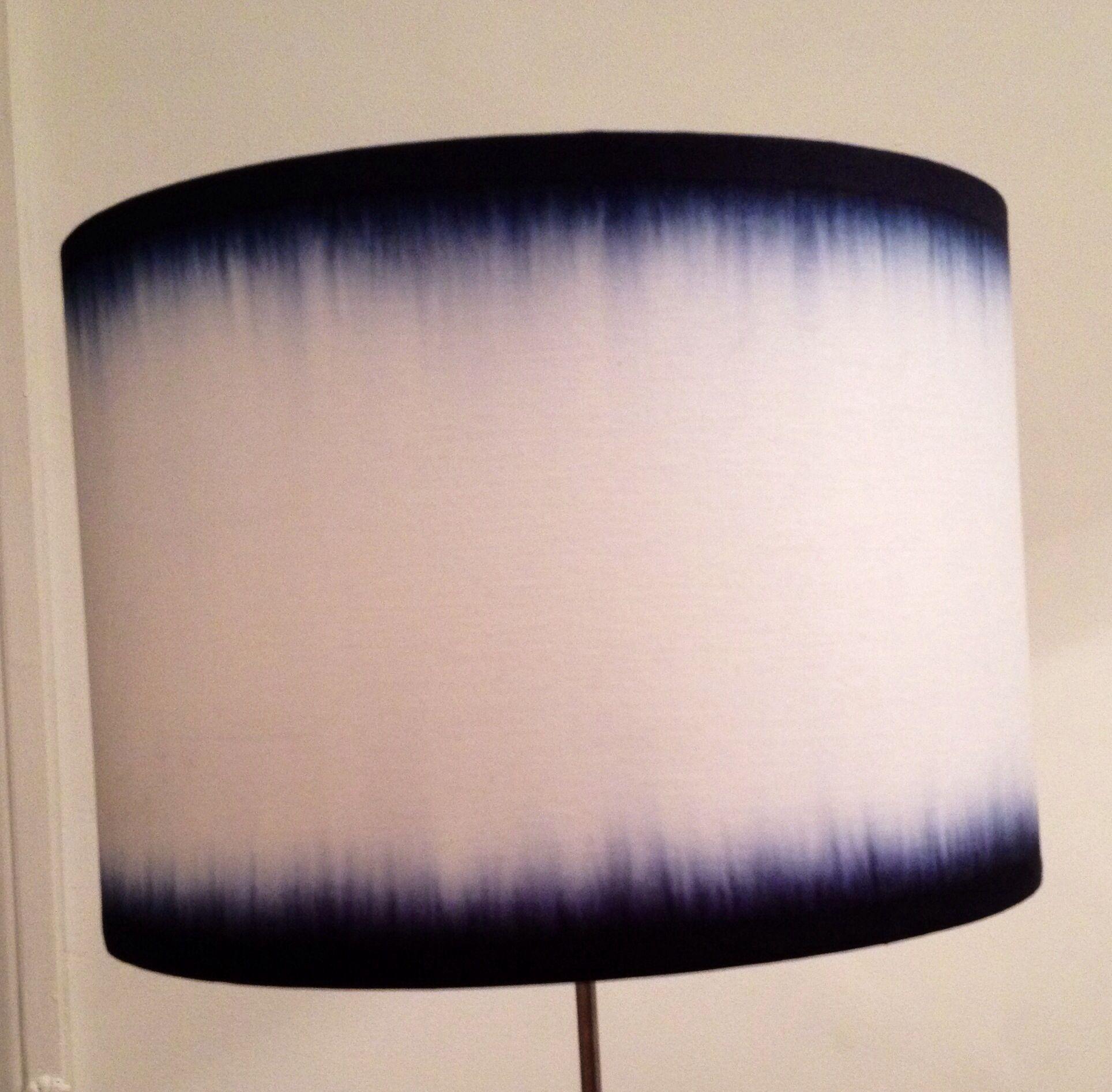 Double Denim - DYLON Jeans Blue dye on a plain white lampshade ...