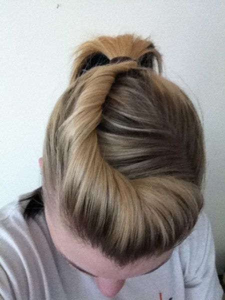 Simple pony-tail hairstyle
