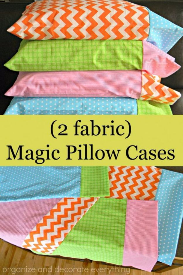 How Much Fabric To Make A Pillowcase Enchanting 35 Diy Pillowcases You Need In Your Bedroom Today  Sewing Projects Decorating Design