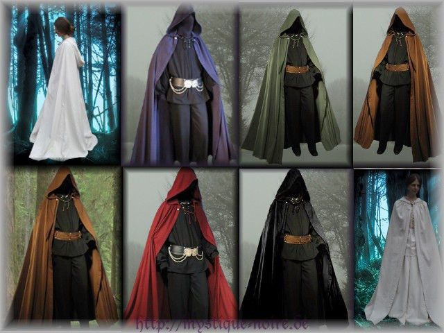 Medieval Cloak Hood Rennaisance SCA Larp Wicca Beltane 6 Colours