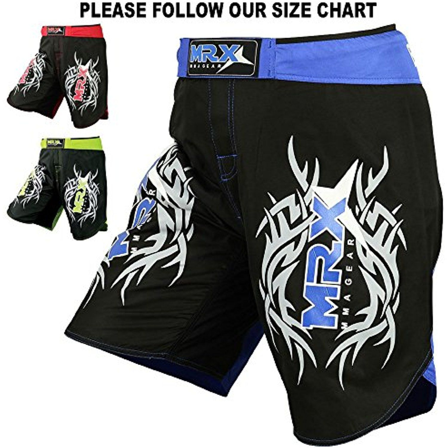 MENS Fighting Shorts UFC Grappling MMA Kick Boxing Muay Thai Martial Art Trunks
