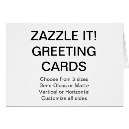 Custom Personalized 5 5 X4 25 Photo Greeting Card Zazzle Com Create Your Own Card Custom Photo Greeting Cards