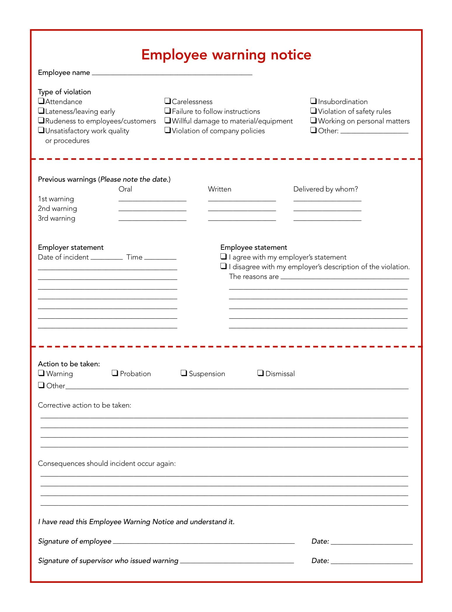 Looking To Download Employee Write Up Form To Fire Non Performing Workers Then You Are In Luc Employee Handbook Employee Evaluation Form Evaluation Employee Employee write up form template