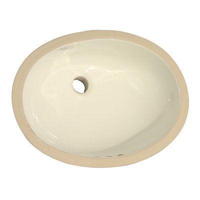 Barclay Rosa 570 Vitreous China Oval Undermount Bathroom Sink With