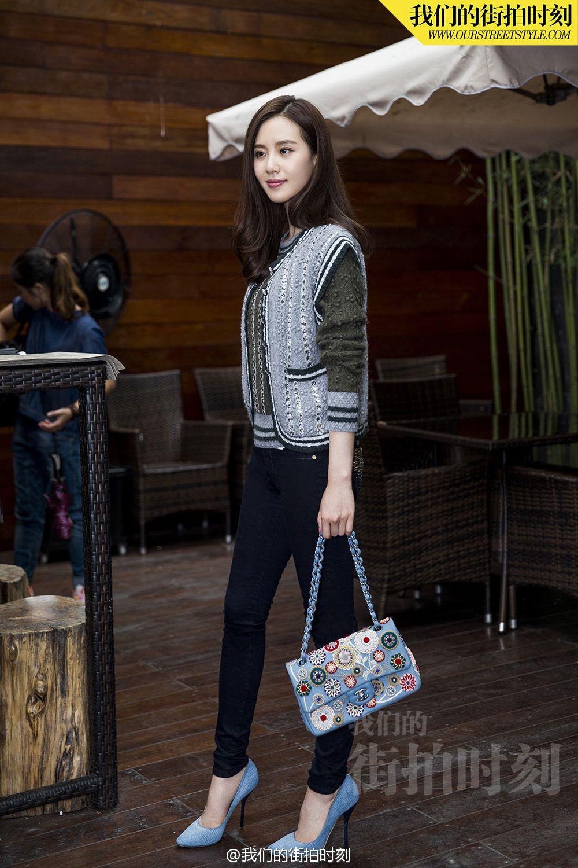 Liu Shishi wearing chanel sweater