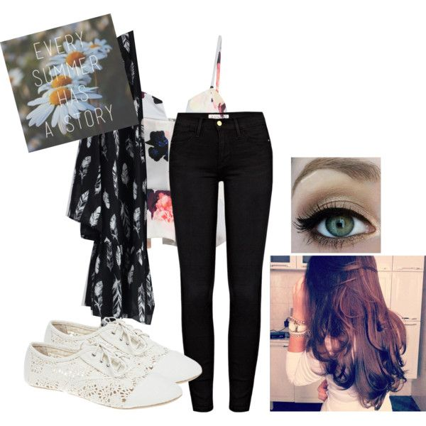 Every Summer Has A Story by lyla-xoxo on Polyvore featuring polyvore fashion style Chicwish Frame Denim Wet Seal