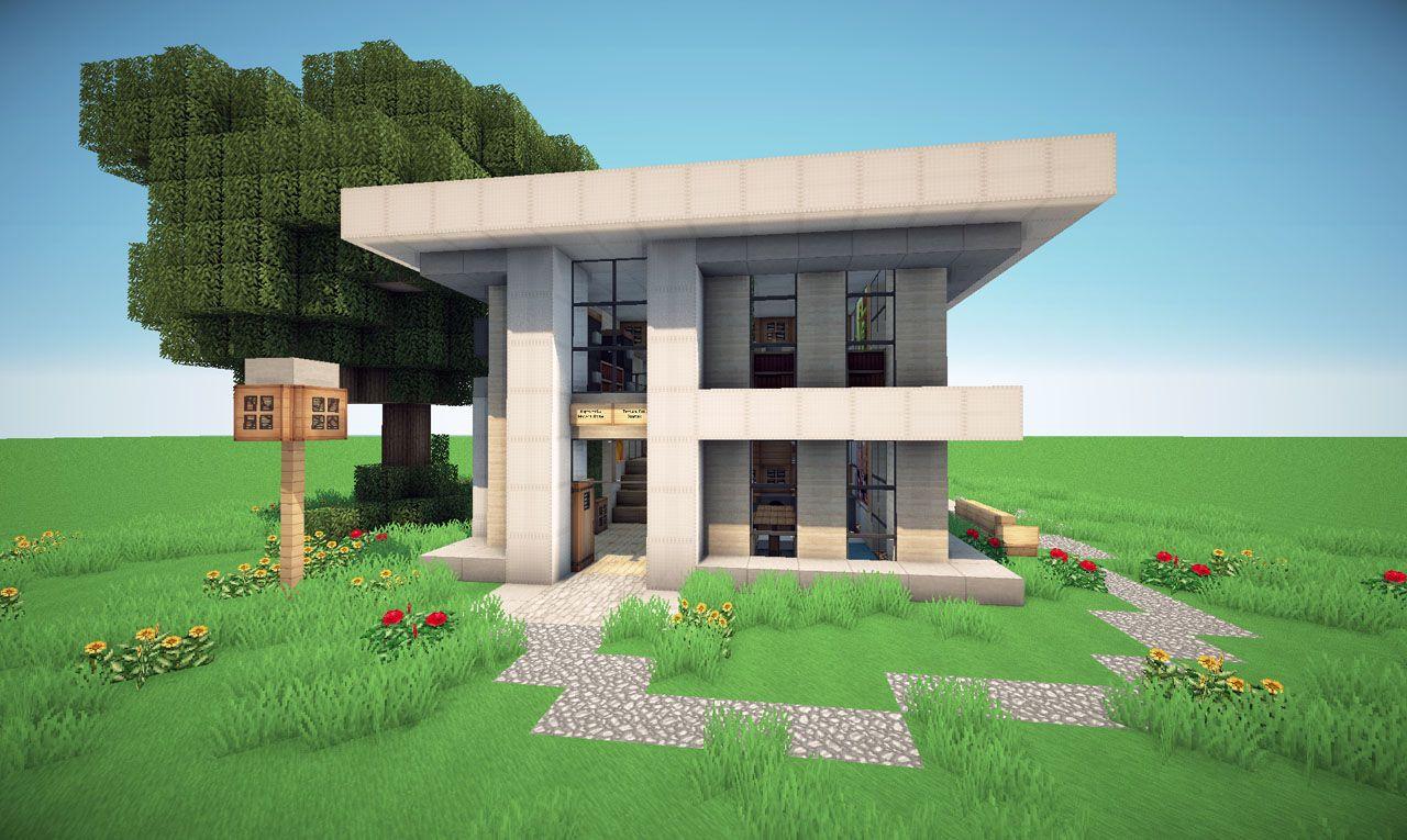 Дома модерн в майнкрафт