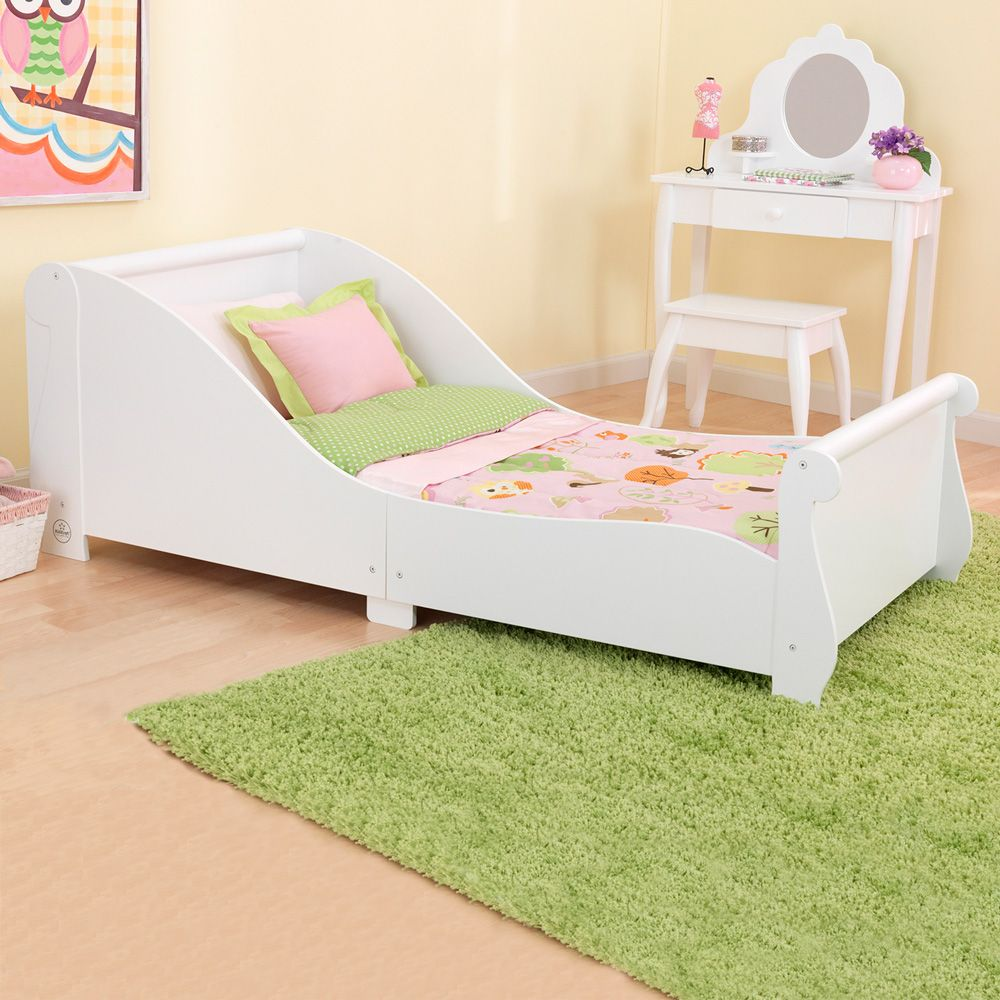 White Plastic Toddler Bed Costco And Green Carpet Wooden