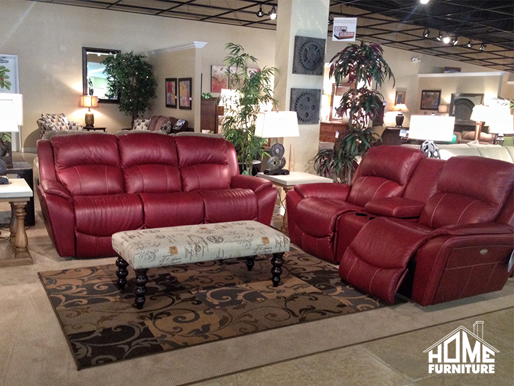 La Z Boy Barrett Leather Power Reclining Sofa Loveseat