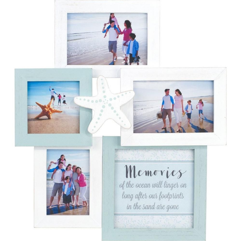 Malden 5 Opening Coastal Wall Collage Photo Frame Wall Collage Photo Frame Frame