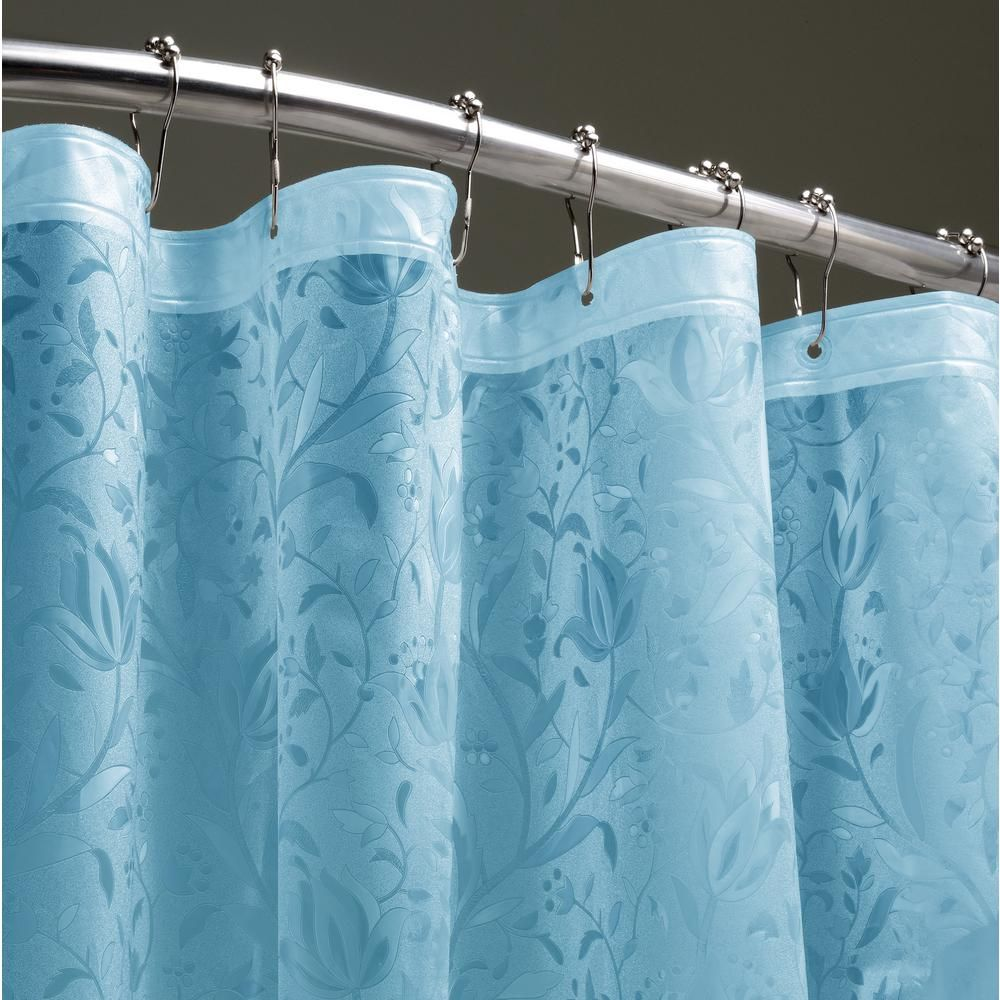 Dainty Home Floral 72 In Clear 3d Shower Curtain Fl3dcl Floral