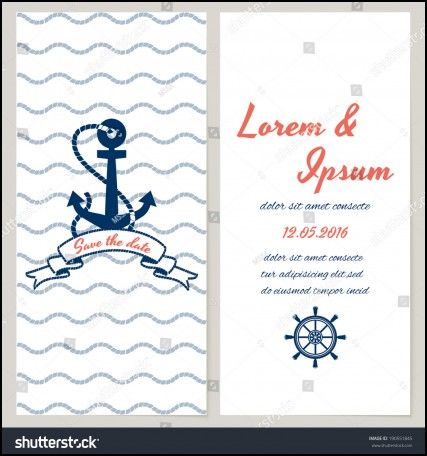 Nautical Wedding Invitation Template   Wedding Ideas   Pinterest ...
