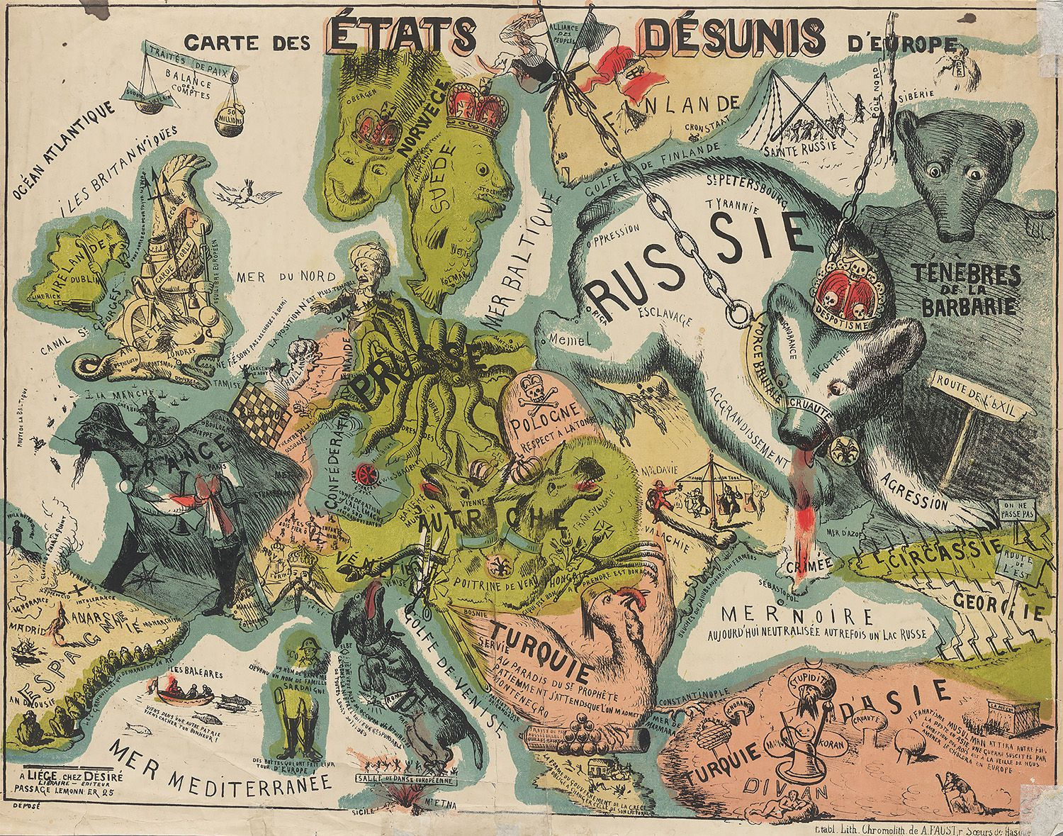 21 Bizarre Maps That Depict Nations As
