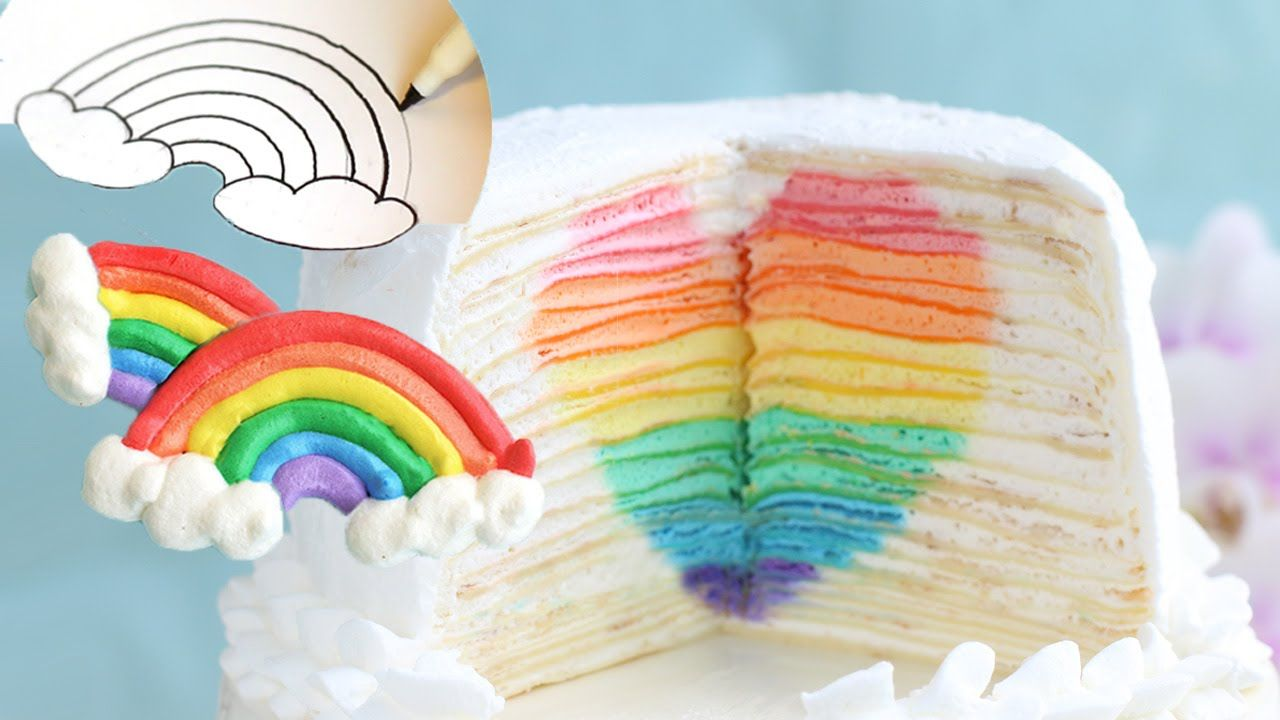 무지개 하트 케이크 예고편 Rainbow Heart Mille Crepes Teaser & Rainbow Meringue Temp...