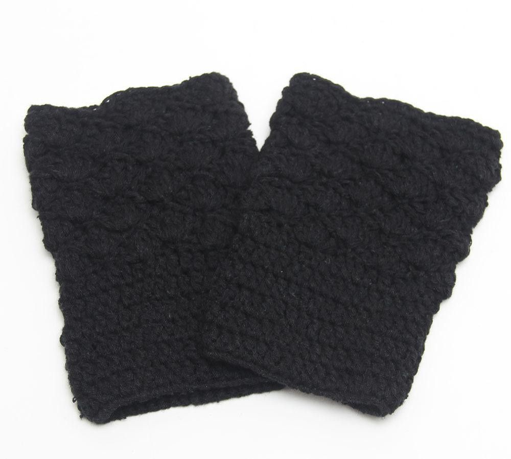 Fashion New Leg Warmers for Women Knit Boot Cuffs Crochet Boot Socks ...