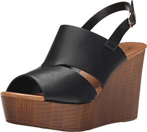 548792184ea Callisto Womens Presley Wedge Sandal Black 8 M US     Click image to review  more details.(This is an Amazon affiliate link)