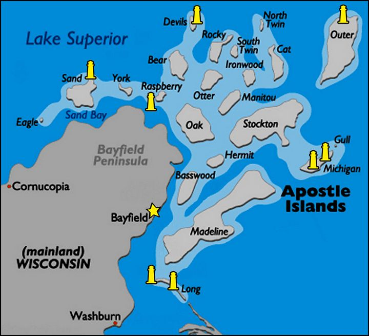 apostle islands map apostle islands national lakeshore is a