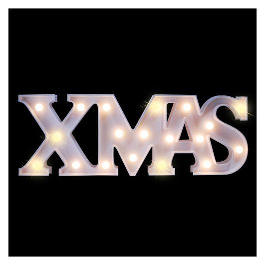 Letras xmas decorativas con luz led letras de navidad for Letras decoracion metal
