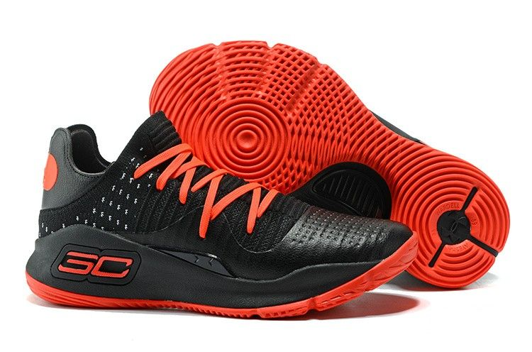 a2f33bebf56 2017 UA Curry 4 Low Black Red Men s Basketball Shoes in 2019