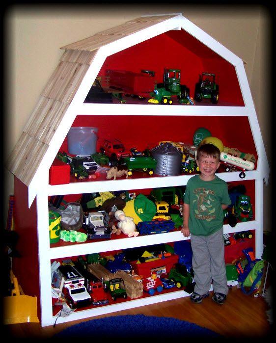 Wood Effect Kids Playroom Bedroom Storage Chest Trunk: Barn Shelf @brittanyhutchinson !!!