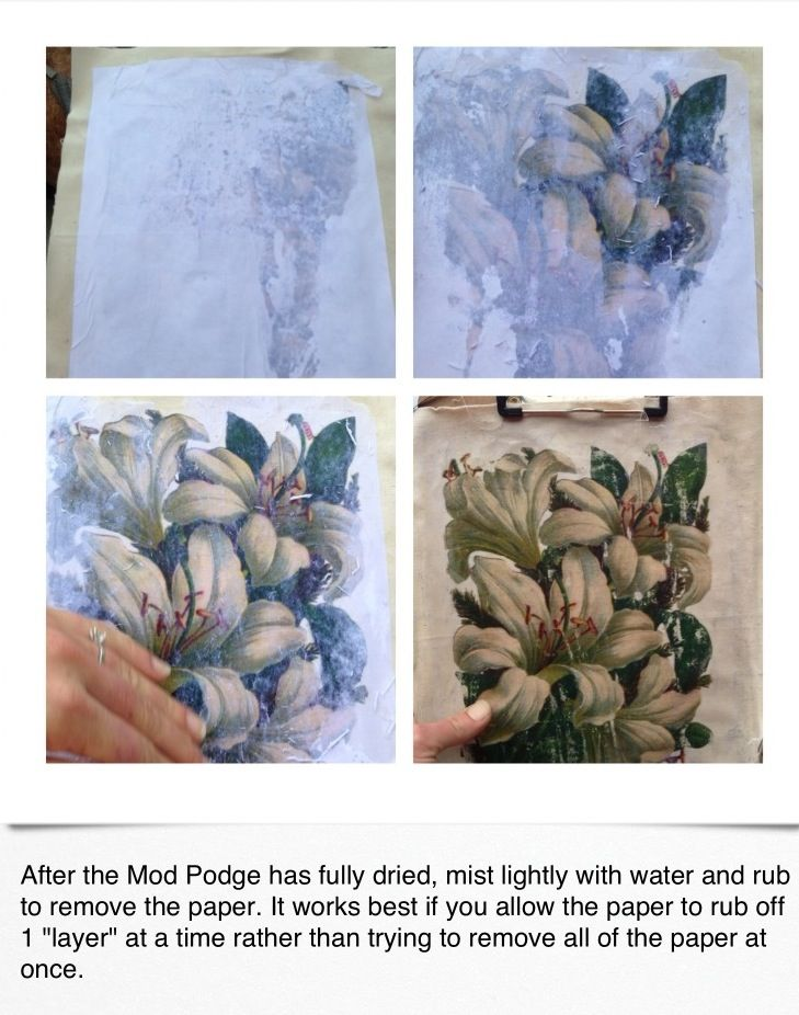 Image Transfer From Paper To Canvas Fabric Paint A Thick Coat Of