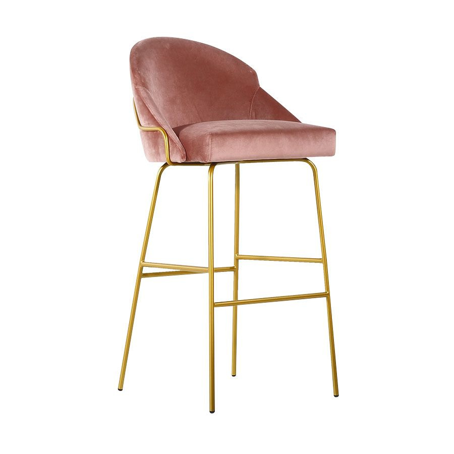 Paris B Tube Barstool Metal Frame With Footrest Available In A